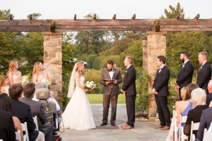 Outdoor weddings at Lewis Ginter Botanical Garden, Rose Garden. Image by J&D Photography.