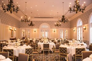Robins Room wedding reception. Image by J&D Photography.