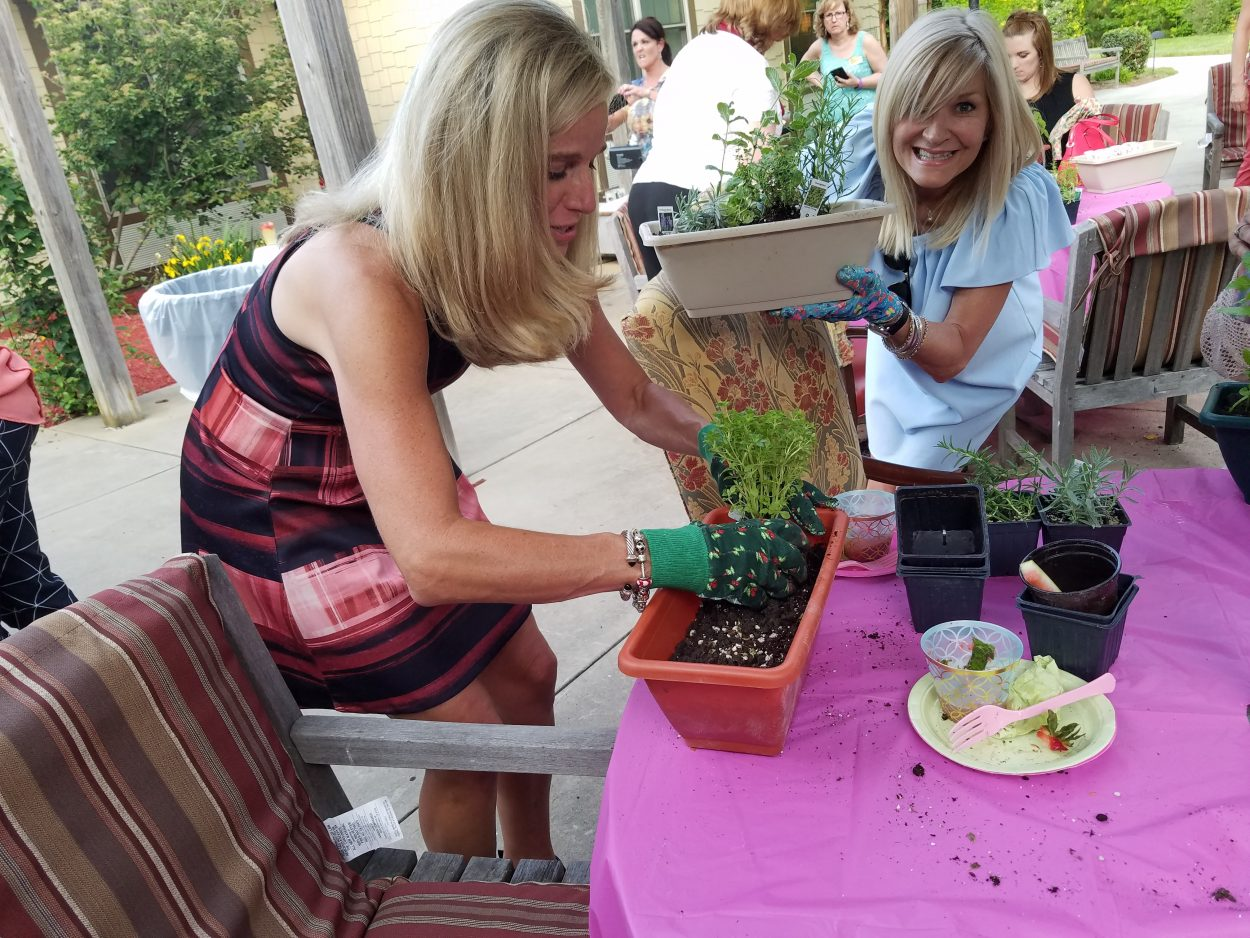 Community gardening at its finest: herb planter workshop