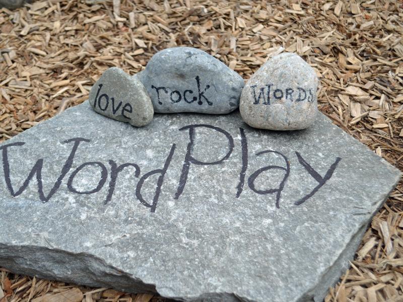 Rock Words in the Children's Garden