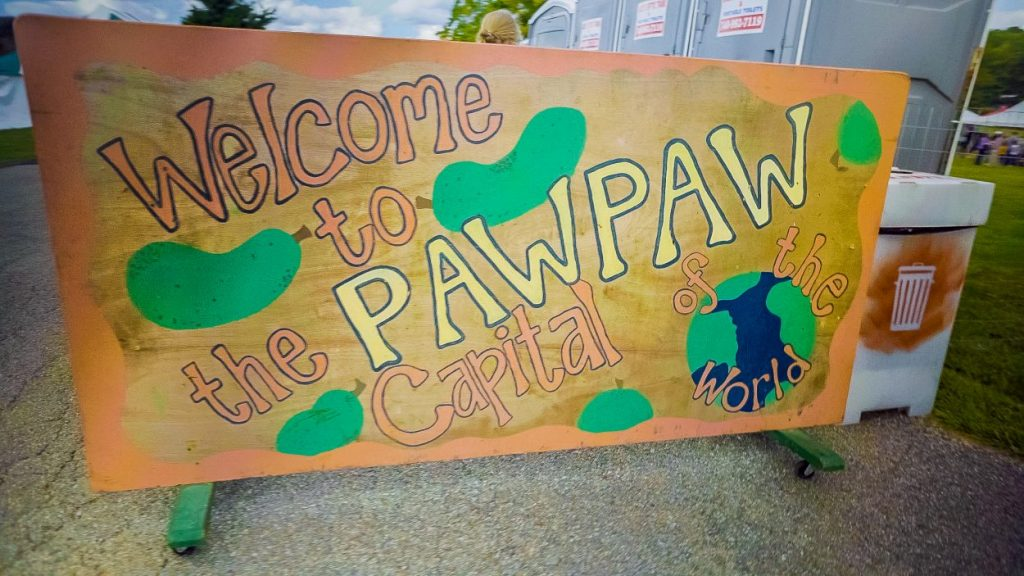 Ohio Pawpaw Festival sign