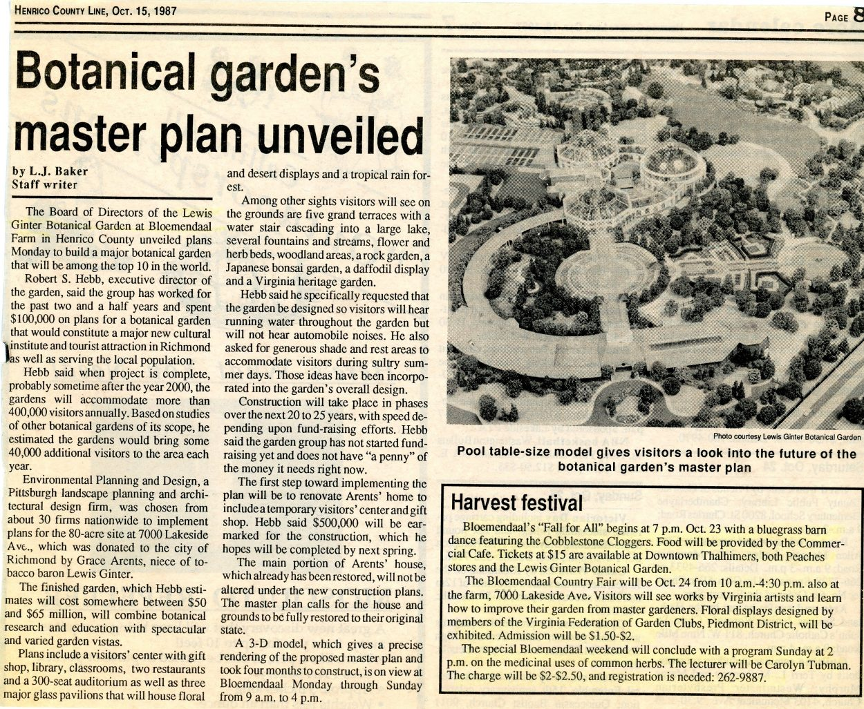 In 1987, this masterplan started a dream to be one of the top gardens in the word.