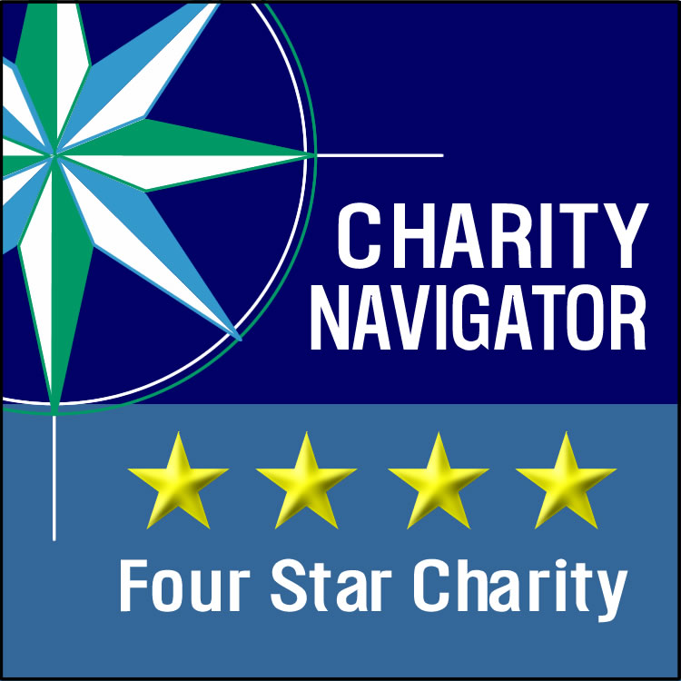Charity Navigator logo - 4 star charity