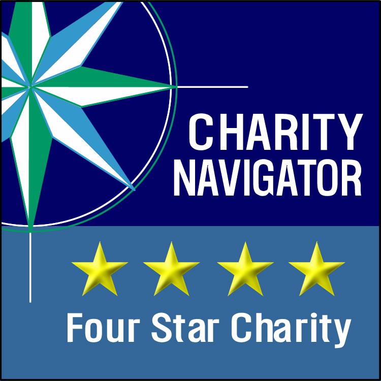 Charity Navigator logo - 4 star charity