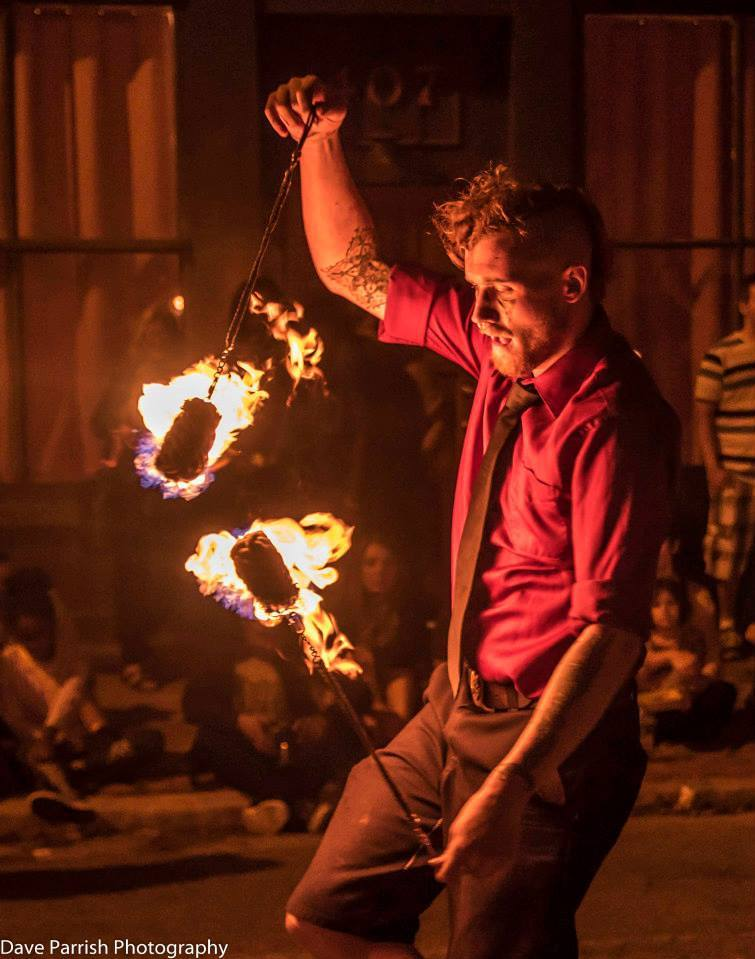 Fire spinning from Host of Sparrows