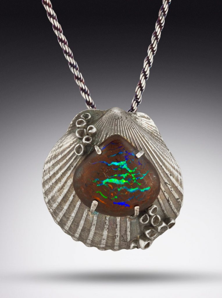 Silver shell jewelry