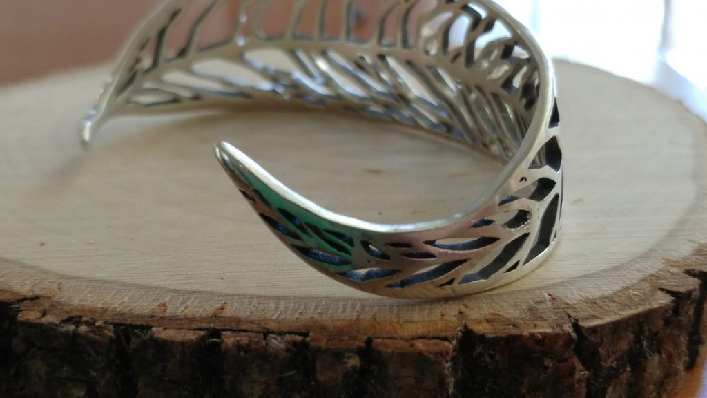 silver bracelet -- Virginia creeper