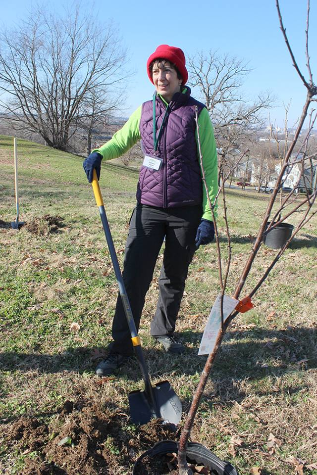 Planting trees to make Richmond more beautiful -- the best kind of gardening.