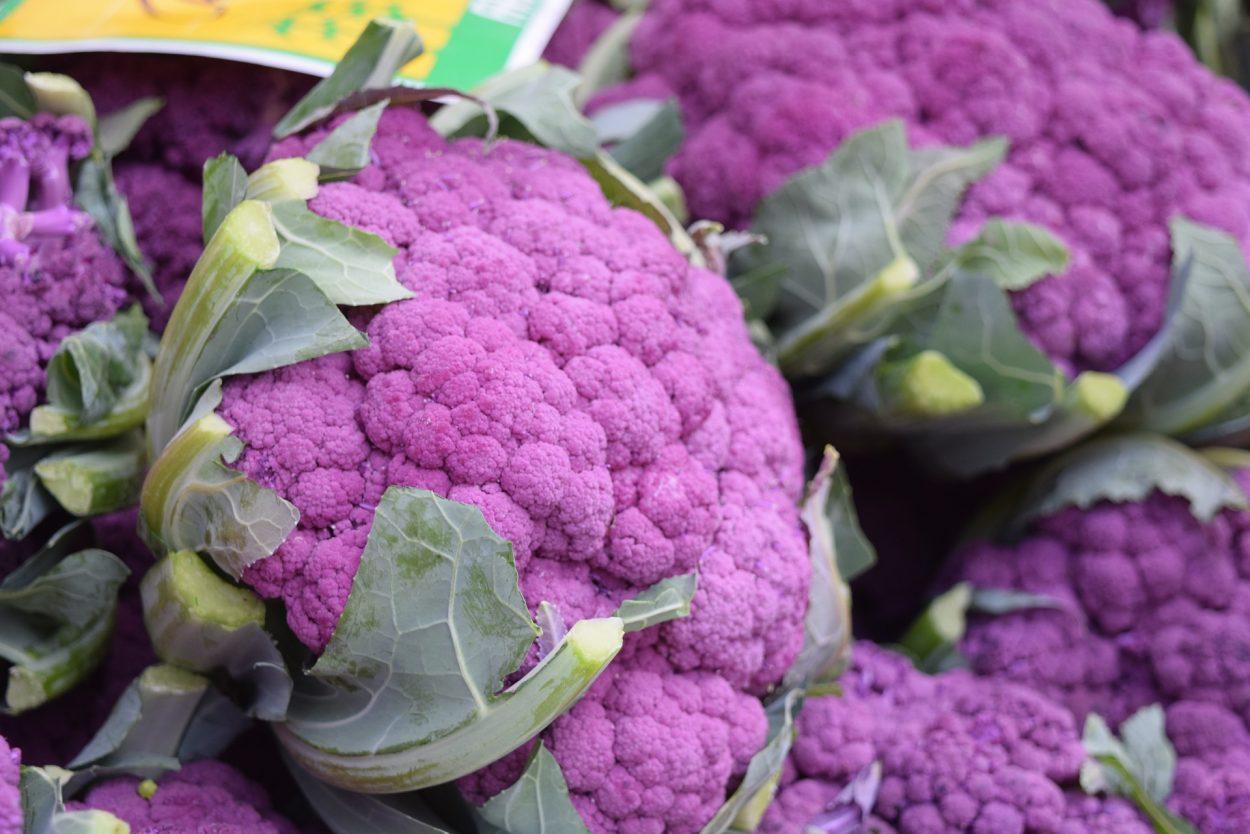 Purple cauliflower is a healthy veggie