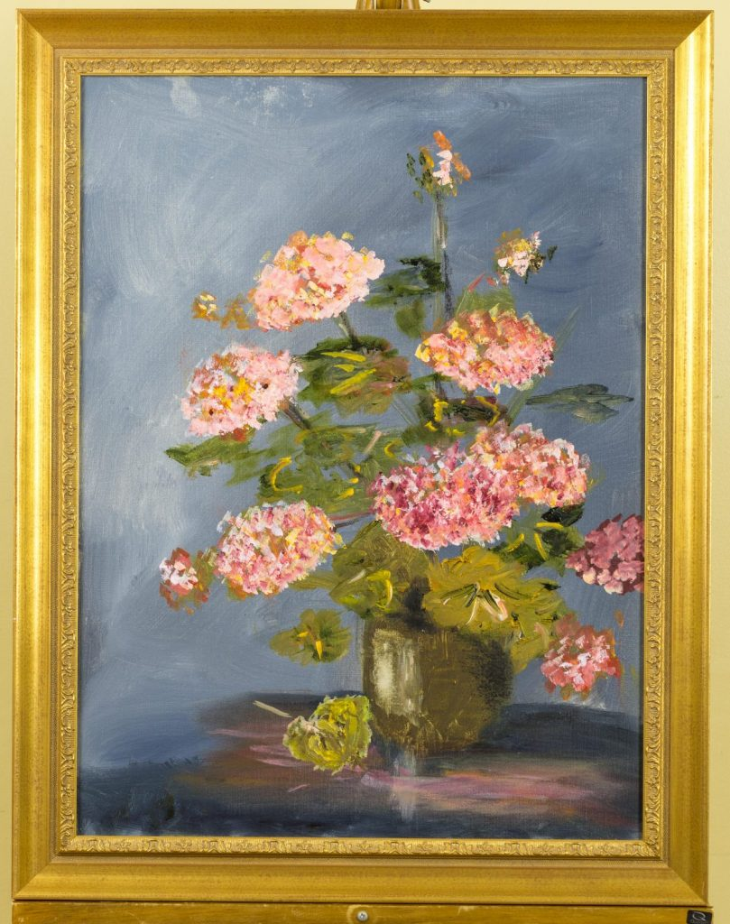 Louise Cochrane painting of hydrangea
