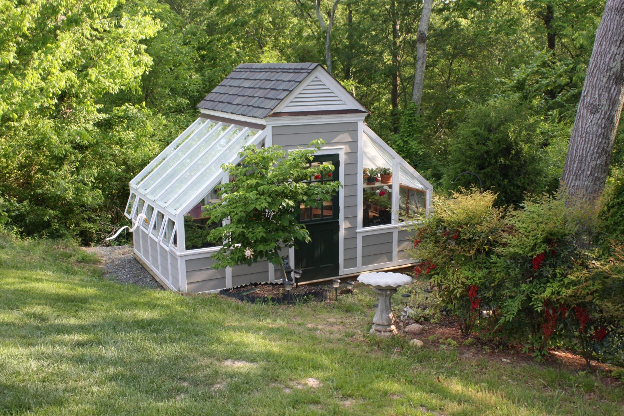 homeowner greenhouse for year-round gardening