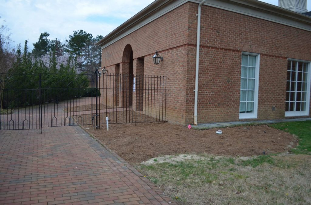 renovations of the plant bed outside of the Kelly Education Center