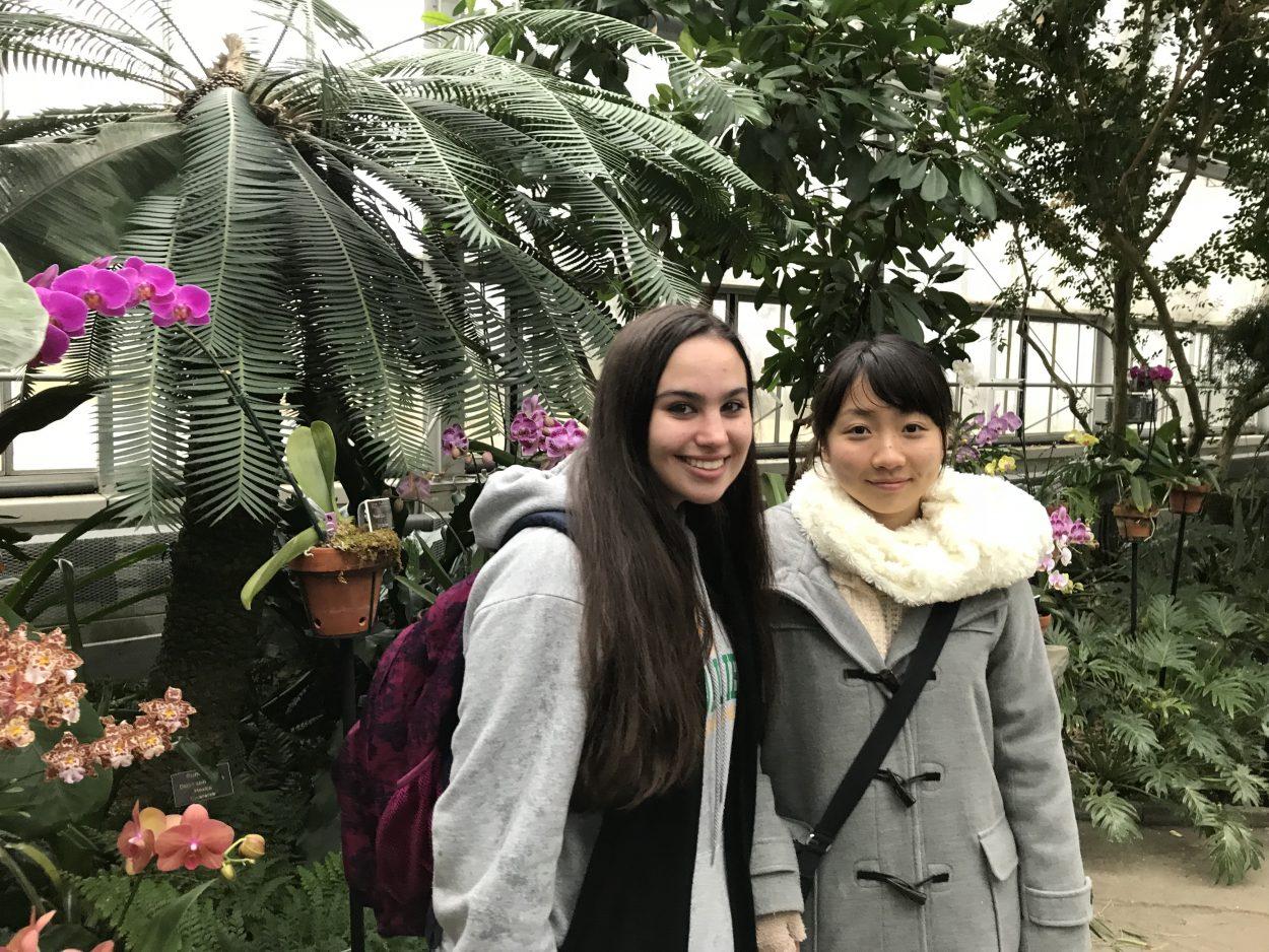 Exchange students at Lewis Ginter Botanical Garden