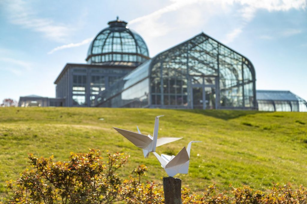 Origami in the Garden at Lewis Ginter Botanical Garden. Image by Tom Hennessy