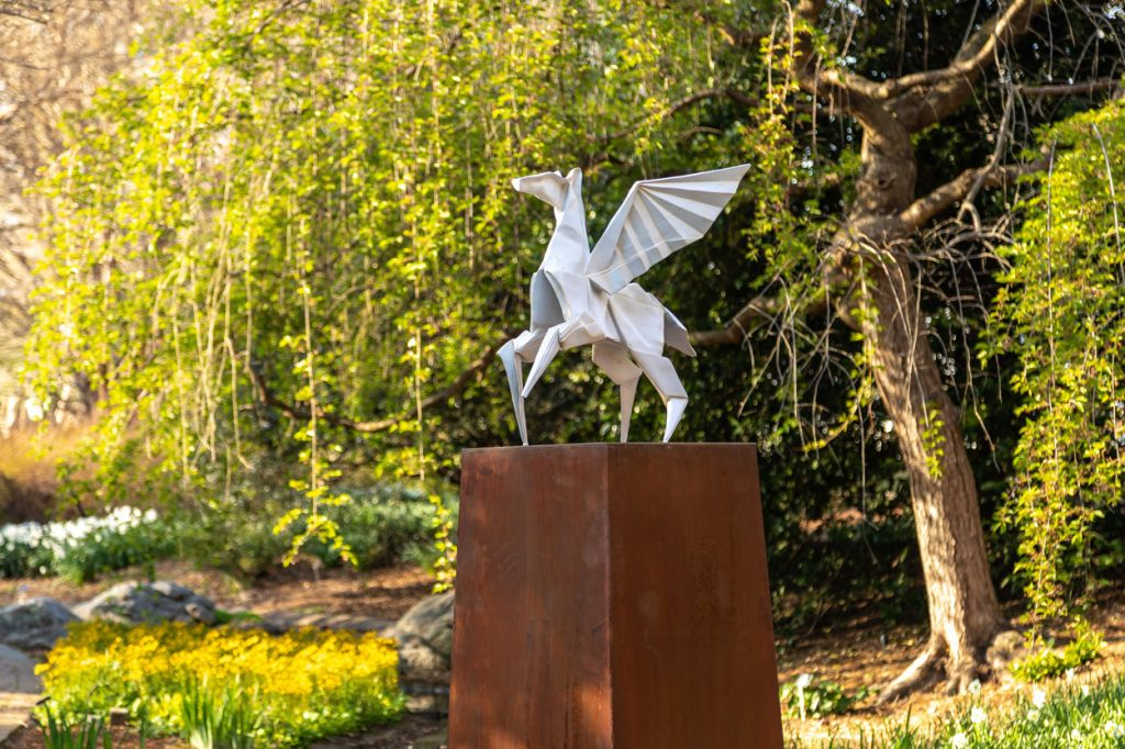 Hero's Horse from Origami in the Garden. Image by Tom Hennessy
