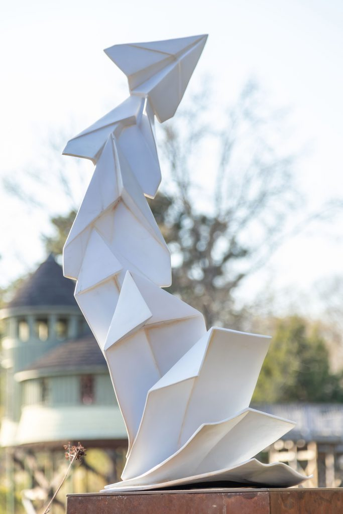 Folding Planes from Origami in the Garden. Image by Tom Hennessy