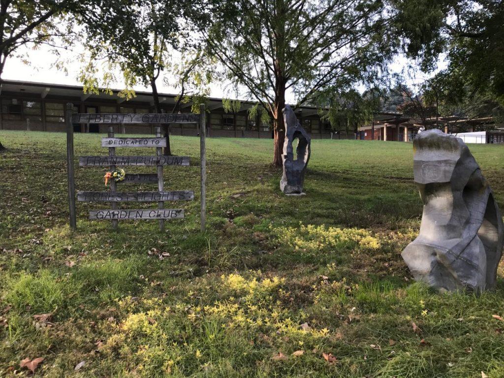 A garden at JR Tucker High School dedicated to Fran Purdum a longtime science teacher at Tucker and Lewis Ginter Botanical Garden volunteer.