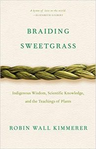 """Book cover for """"Braiding Sweetgrass"""" by Robin Wall Kimmerer"""