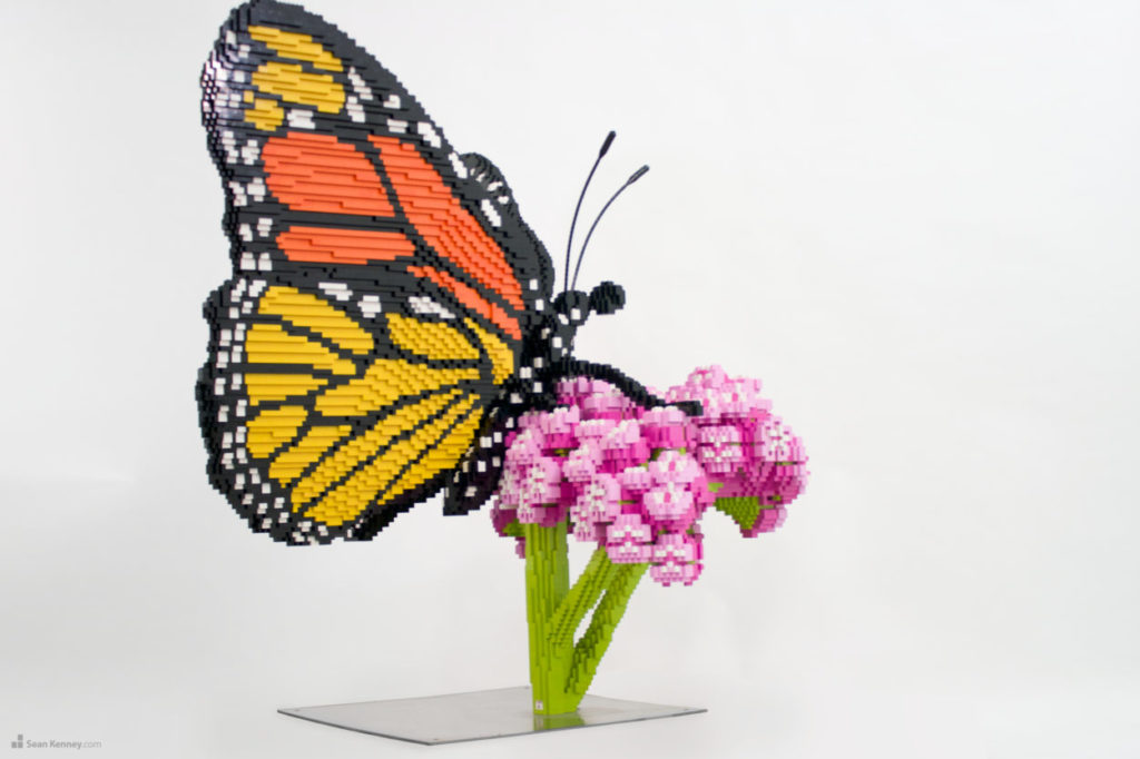 Monarch Butterfly out of Lego BRICKS