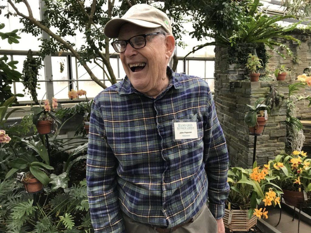 John Popenoe laughing