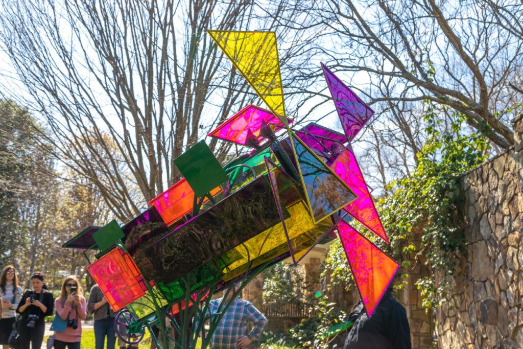Kaleidoscope sculpture by Matthew Leavall