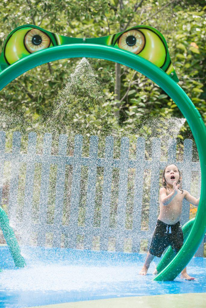 boy at waterplay