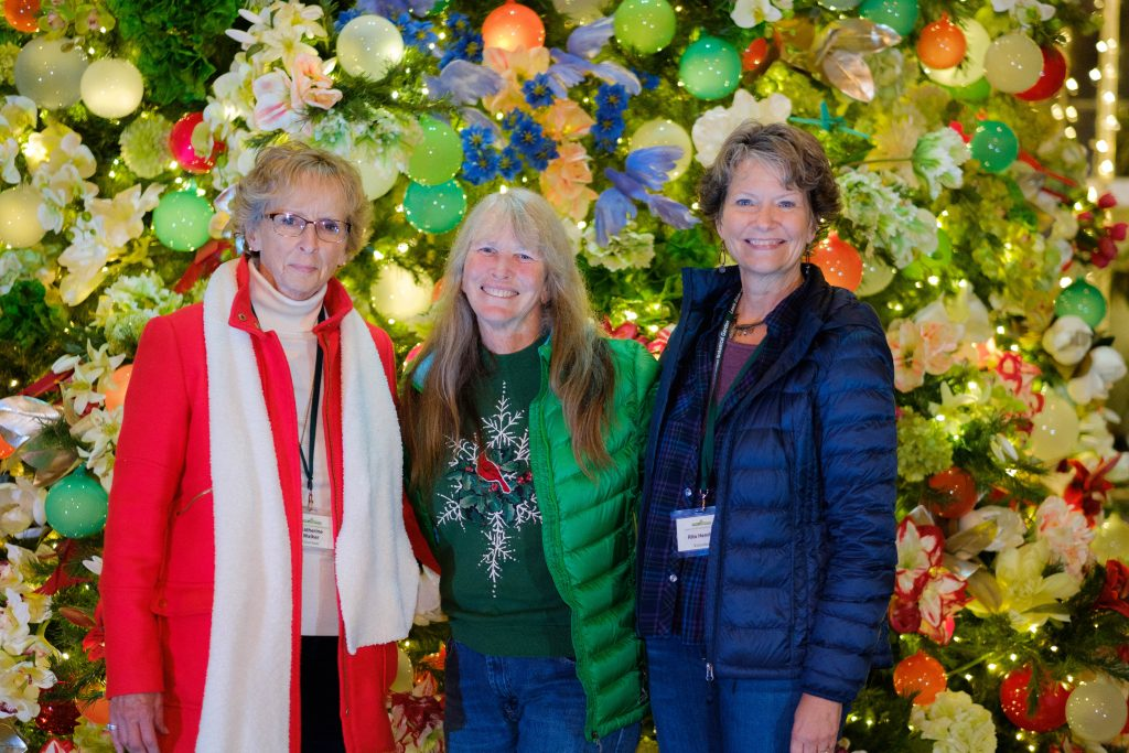 Rose Garden Volunteers and staffer Laurie McMinn. Image by Harlow Chandler