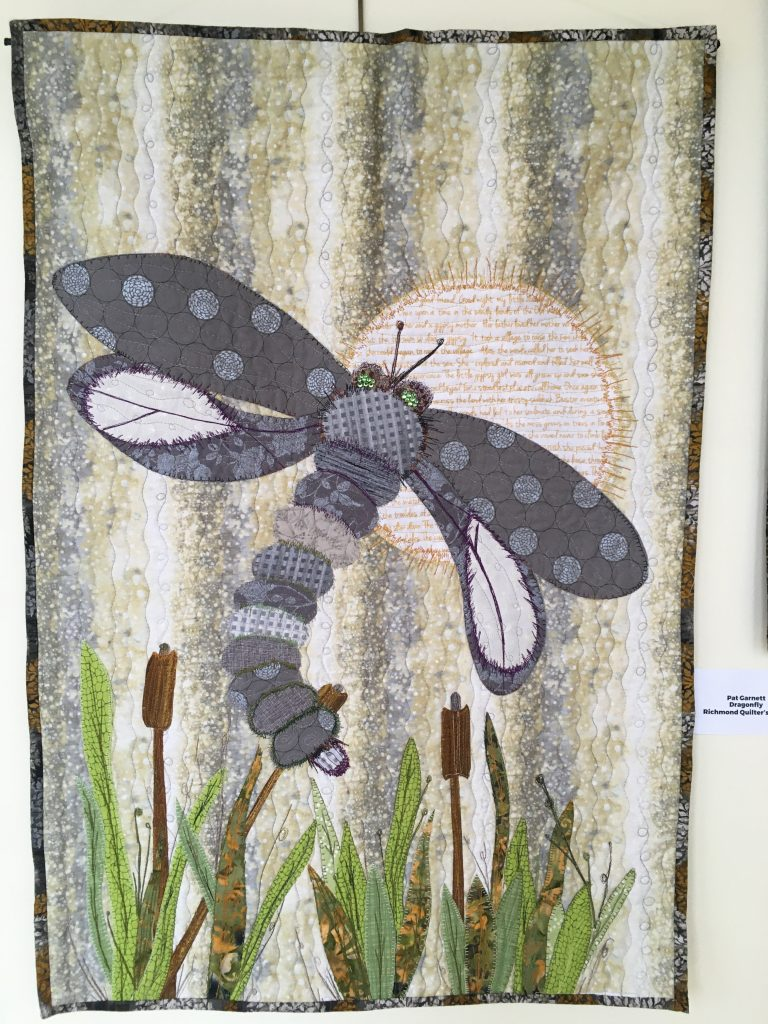 Nature Quilt dragonfly