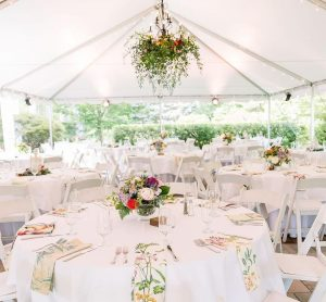 the Bloemendaal House includes a tent perfect for a outdoor wedding