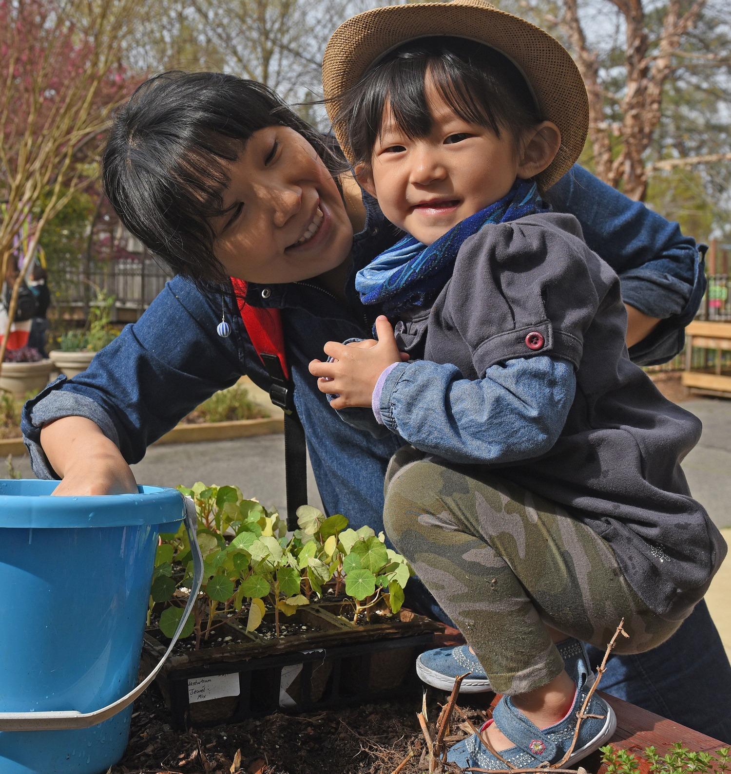 Family planting at Lewis Ginter Botanical Garden