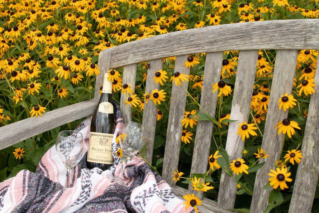 Fridays Alfresco wine and wine glasses