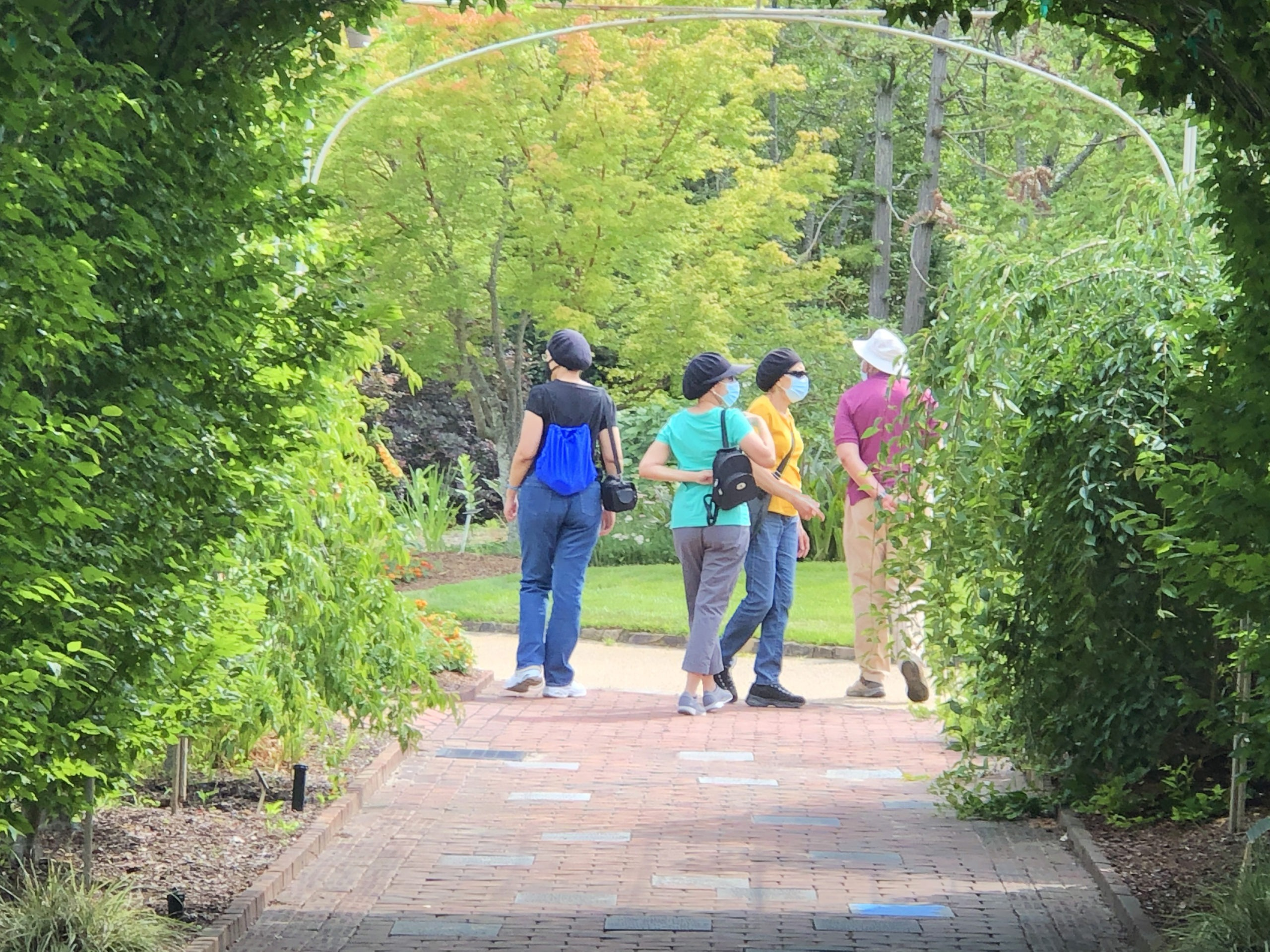 Guests visiting Lewis Ginter Botanical Garden