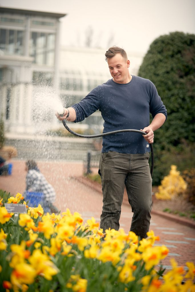 Dean Graham, a horticulturist at Lewis Ginter Botanical Gardens. Image by Graham Copeland