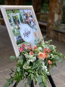 Vouge Flowers visual board display