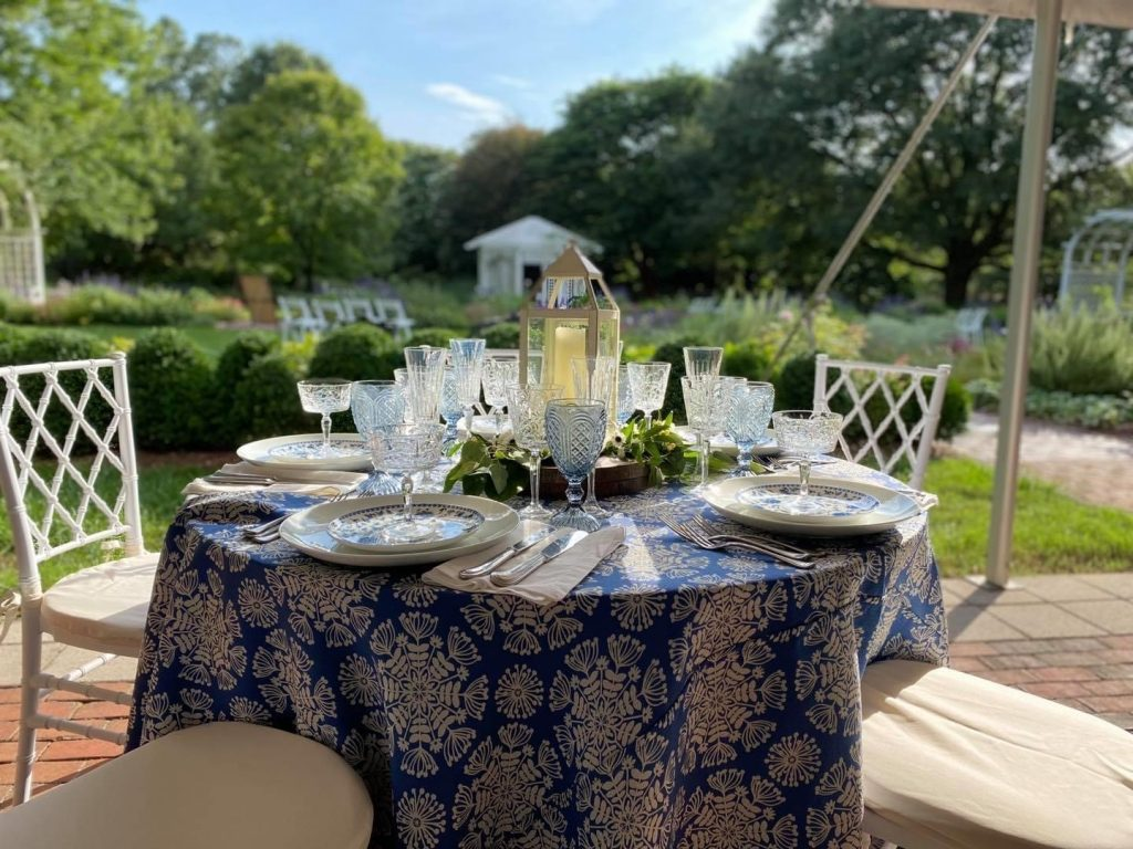 tablesetting by Classic Party Rentals within the Grace Arents Garden