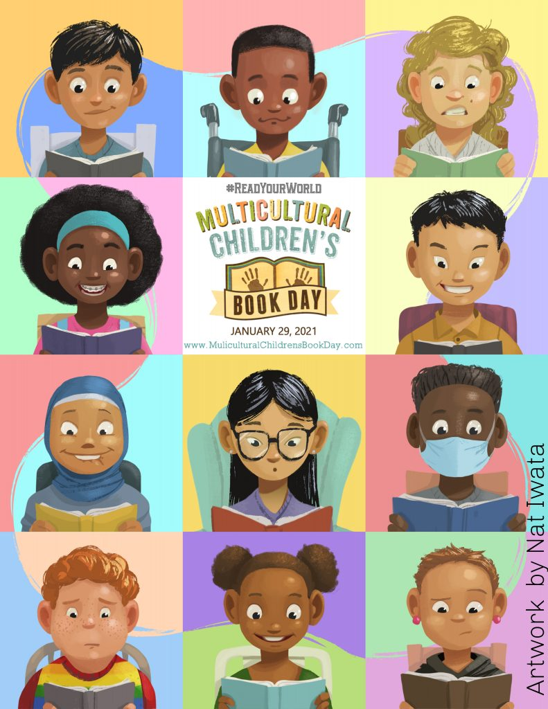 Diverse books are important. Here multicultural children's book day posters shows kids with all kinds of diversity.