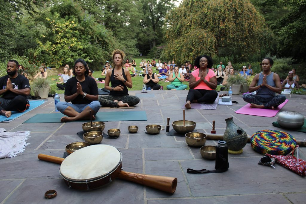 The Juneteenth Yoga circle with Ram Bhagat will include drumming, yoga and healing.