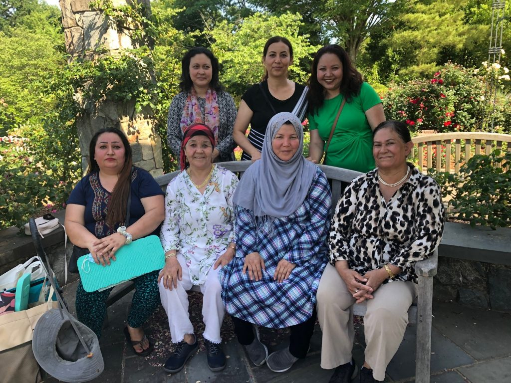 Afghan Women's Group in the Rose Garden