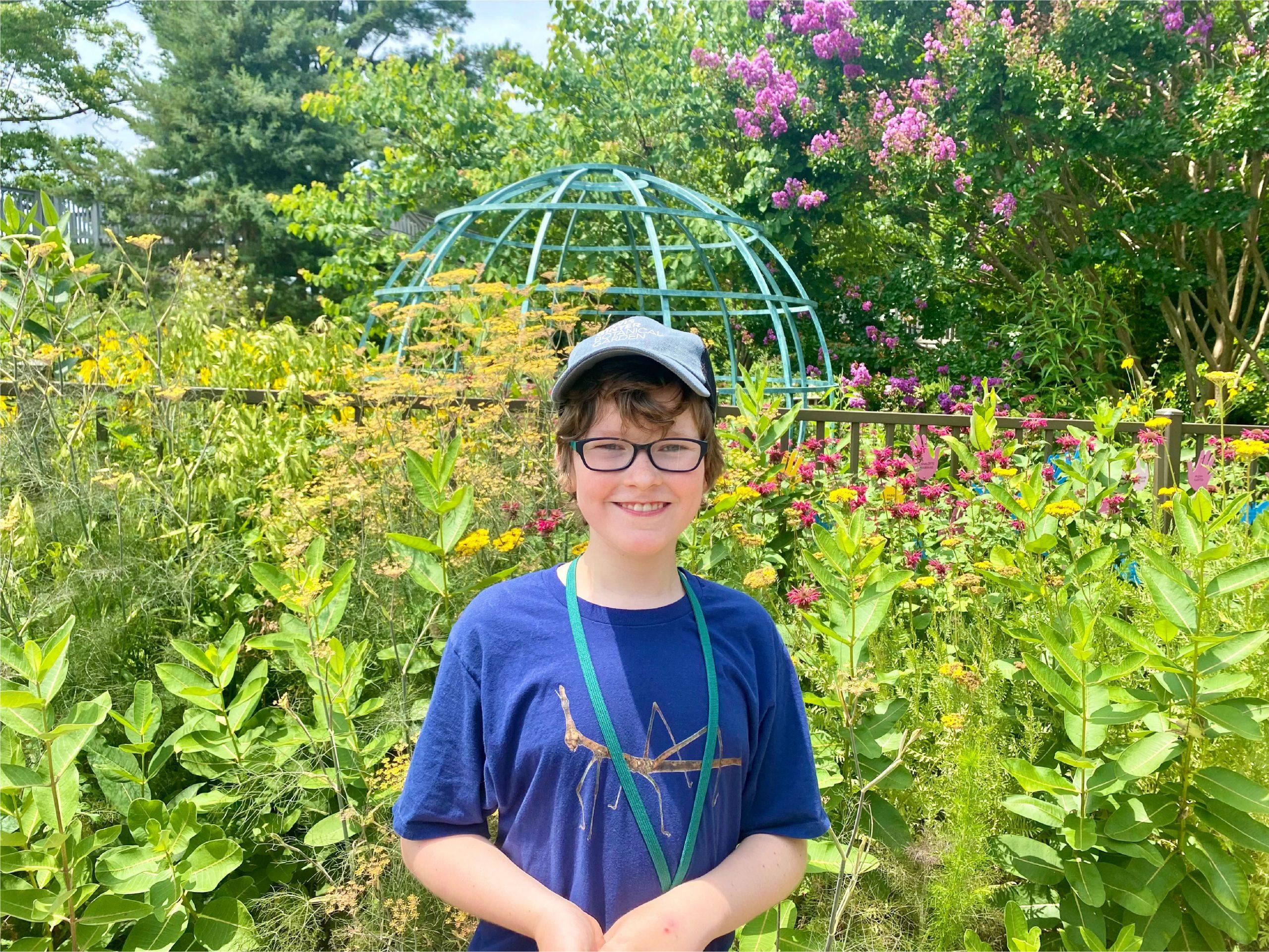 Dan during a Volunteer Opportunity in the Children's Garden