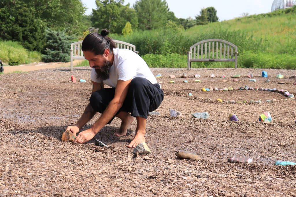 Resident artist Acosta places rocks in exhibition