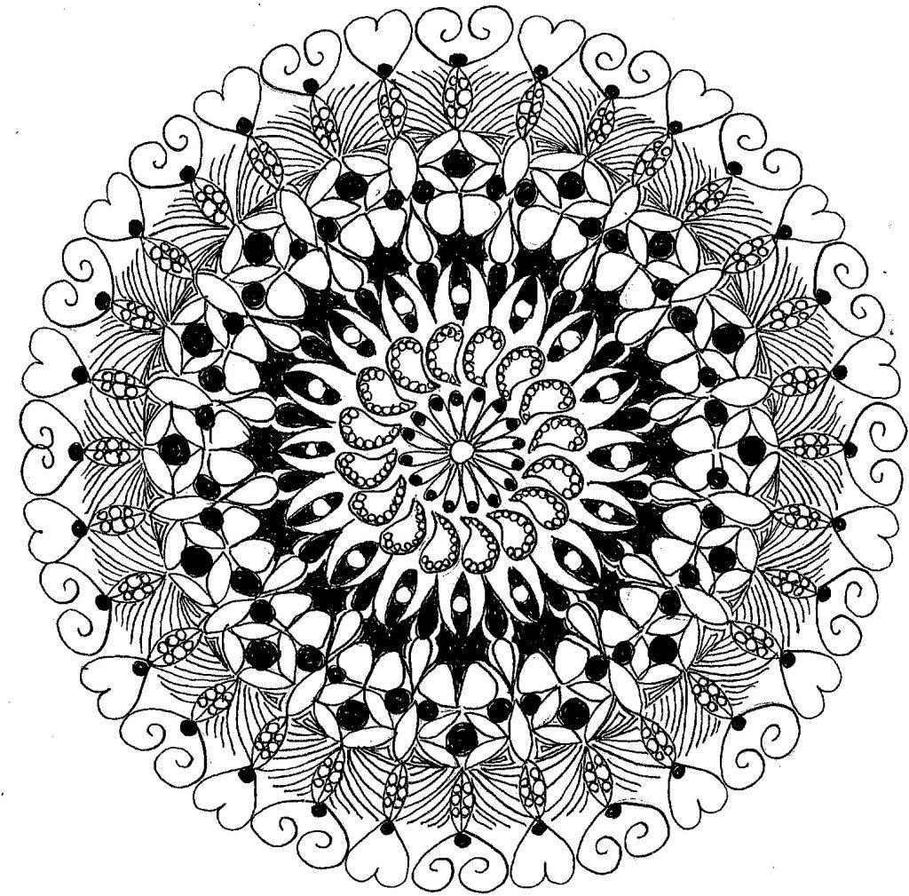 Zentangle mediateive Art by Liz Hambrick